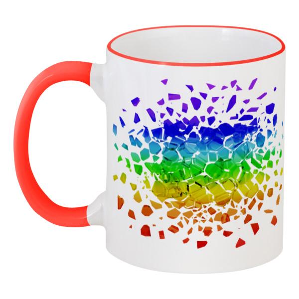 Кружка с цветной ручкой и ободком Printio Rainbow кружка фарф 350мл бочка авто 2 тм rainbow 1238867