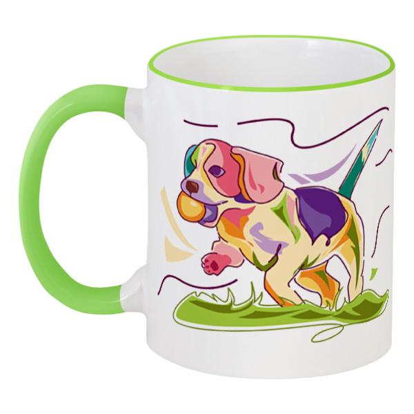 Кружка с цветной ручкой и ободком Printio Собачка кружка с цветной ручкой и ободком printio собачка