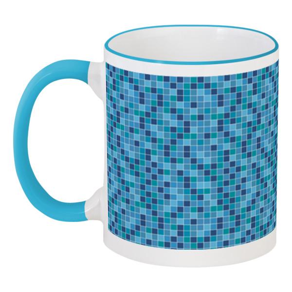 Кружка с цветной ручкой и ободком Printio Мозайка мозайка grid