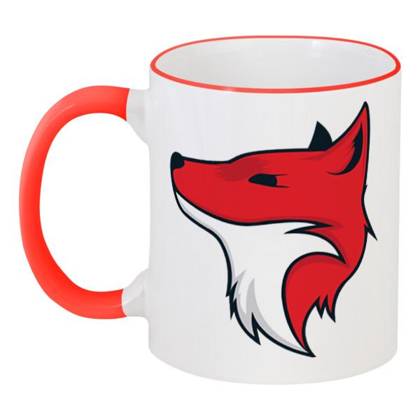 Кружка с цветной ручкой и ободком Printio Fox / лиса рубашка fox цвет красный