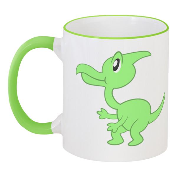 Кружка с цветной ручкой и ободком Printio Динозаврик кружка с цветной ручкой и ободком printio динозаврики
