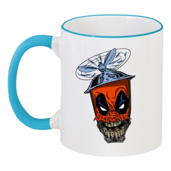 Кружка с цветной ручкой и ободком Printio Дэдпул ( deadpool )