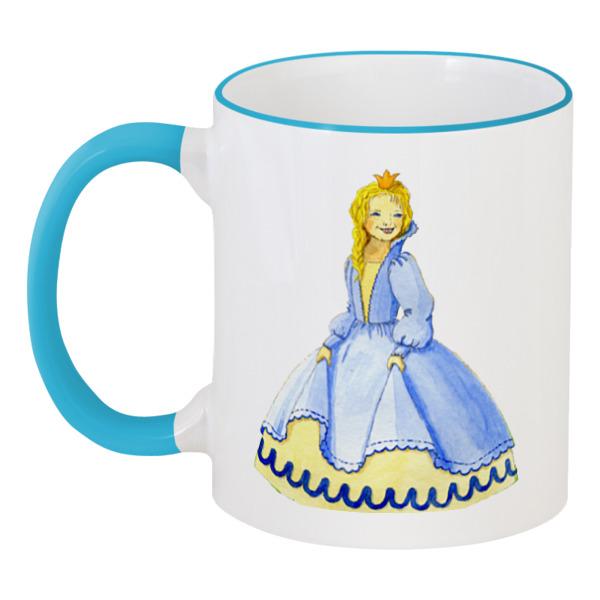 Кружка с цветной ручкой и ободком Printio Счастливая принцесса moxie 540137 мокси принцесса в голубом платье