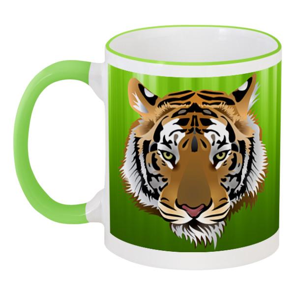 Кружка с цветной ручкой и ободком Printio Взгляд тигра наборы для рисования цветной картины по номерам взгляд тигра