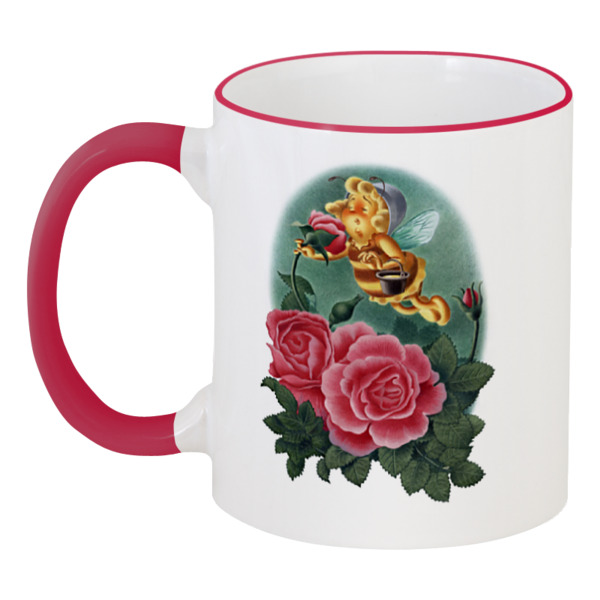 Printio Пчёлка нюхает розу