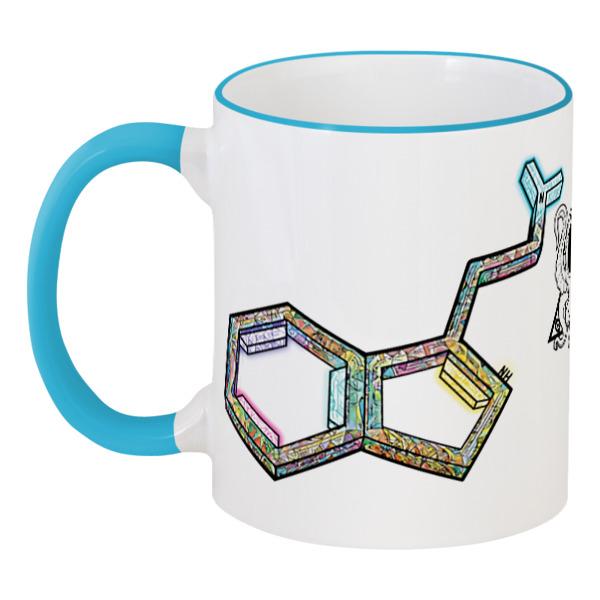 Кружка с цветной ручкой и ободком Printio Dmt molecule color cup cozzine unicorn heat sensitive mug color changing cup 3pcs
