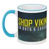 """Кружка с цветной ручкой и ободком """"Shop Viking """" - викинги, vikings, viking, путь воина, сериал викинги"""