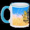 """Кружка с цветной ручкой и ободком """"Большой герб Украины"""" - популярные, оригинально, креативно"""