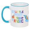 """Кружка с цветной ручкой и ободком """"Кружка MLP: Rainbow Dash"""" - rainbow dash, mlp, my little pony, подарок, brony, friendship is magic, cooler, cutiemark"""