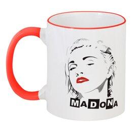 """Кружка с цветной ручкой и ободком """"Мадонна"""" - madonna"""