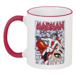 """Кружка с цветной ручкой и ободком """"Madman"""" - madman"""