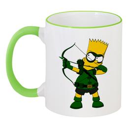 """Кружка с цветной ручкой и ободком """"Барт Симпсон"""" - симпсоны, the simpsons, барт"""