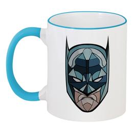 """Кружка с цветной ручкой и ободком """"Бетмэн (Batman)"""" - batman, бетмэн"""