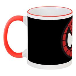 """Кружка с цветной ручкой и ободком """"Spider-man / Человек-паук"""" - мультфильм, комиксы, фильм, spider-man, человек-паук"""