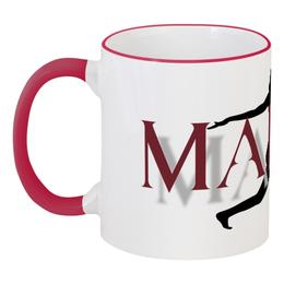 """Кружка с цветной ручкой и ободком """"Мария"""" - мария, maria"""