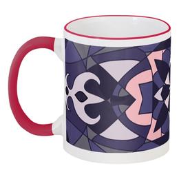"""Кружка с цветной ручкой и ободком """"universe abstract"""" - рисунок, в подарок"""