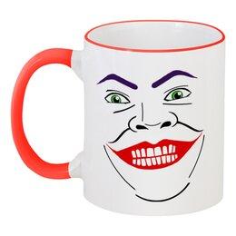 """Кружка с цветной ручкой и ободком """"Джокер"""" - joker"""