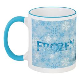 """Кружка с цветной ручкой и ободком """"Frozen (Холодное сердце)"""" - мульт, frozen, холодное сердце"""