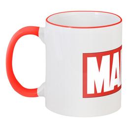 """Кружка с цветной ручкой и ободком """"Marvel"""" - marvel"""