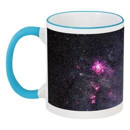 """Кружка с цветной ручкой и ободком """"Вселенная"""" - звезды, космос, вселенная, наука, галактика"""