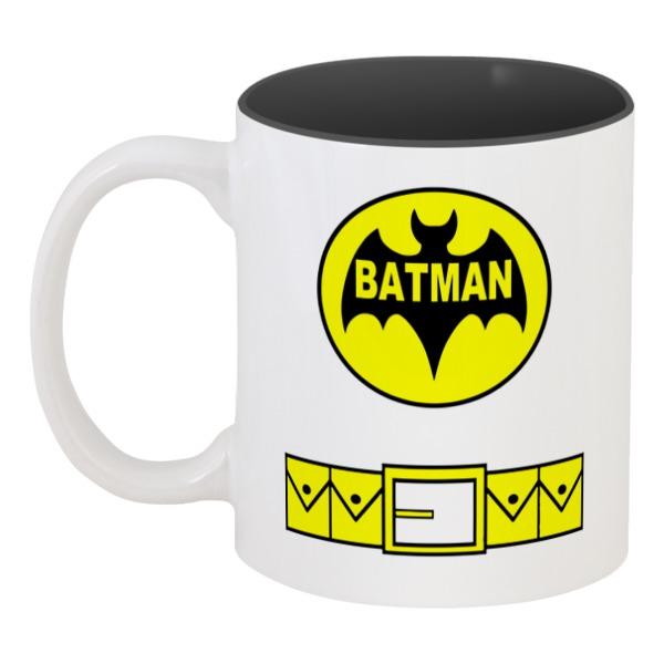 Кружка цветная внутри Printio Бэтмен (batman) кружка цветная внутри printio фотоаппарат зоркий 4