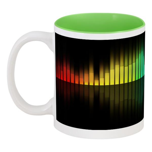Кружка цветная внутри Printio Эквалайзер тизерная сеть эквалайзер на заднее стекло
