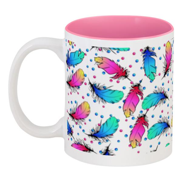 Кружка цветная внутри Printio Яркие перья puzzle 500 яркие совы alpz500 7701