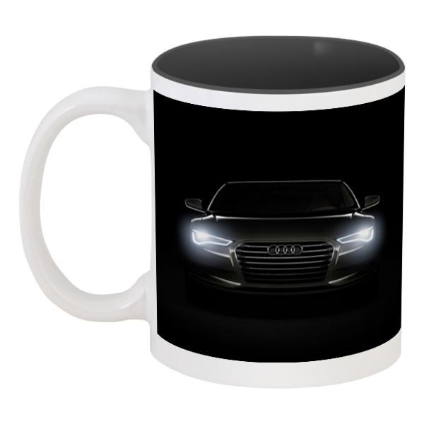 Кружка цветная внутри Printio Audi (ауди)