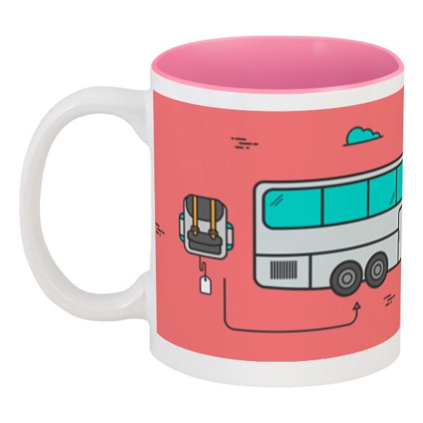 Кружка цветная внутри Printio Автобус shantou туристический автобус
