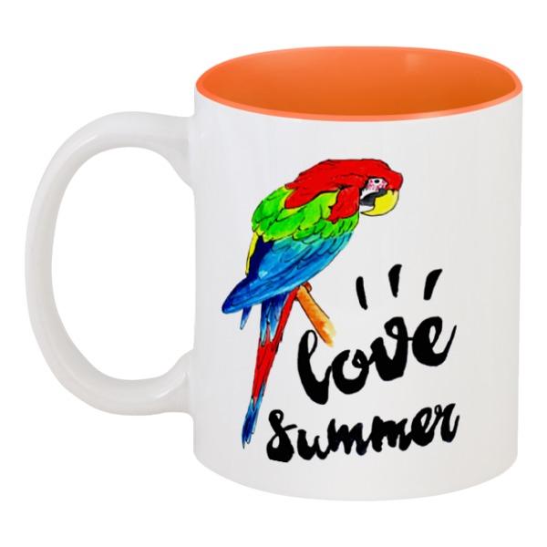Кружка цветная внутри Printio Love summer