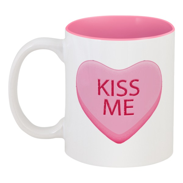 Кружка цветная внутри Printio Поцелуй меня футболка классическая printio поцелуй меня