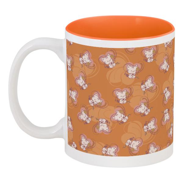 Фото - Кружка цветная внутри Printio Котенок с клубком кружка пивная printio котенок с клубком