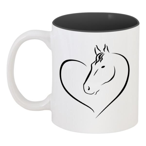 Кружка цветная внутри Printio Милая лошадь кружка цветная внутри printio милая кошка