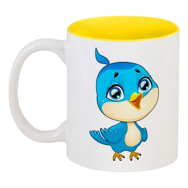 Кружка цветная внутри Printio Птичка кружка яркая птичка