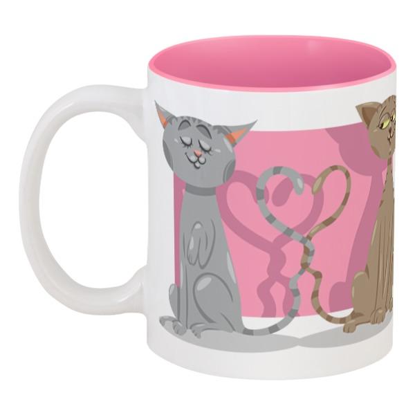 Кружка цветная внутри Printio Влюблённые коты кружка цветная внутри printio день влюблённых