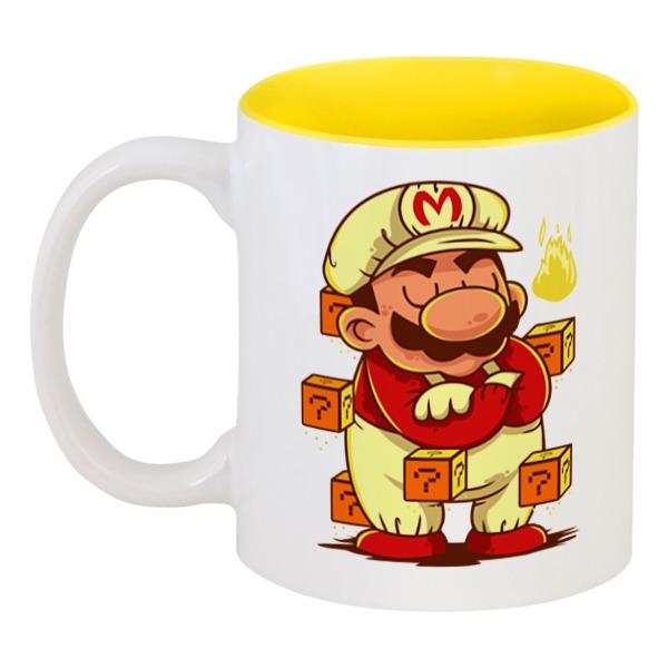Кружка цветная внутри Printio Марио aideli жёлтый цвет 45 ярдов