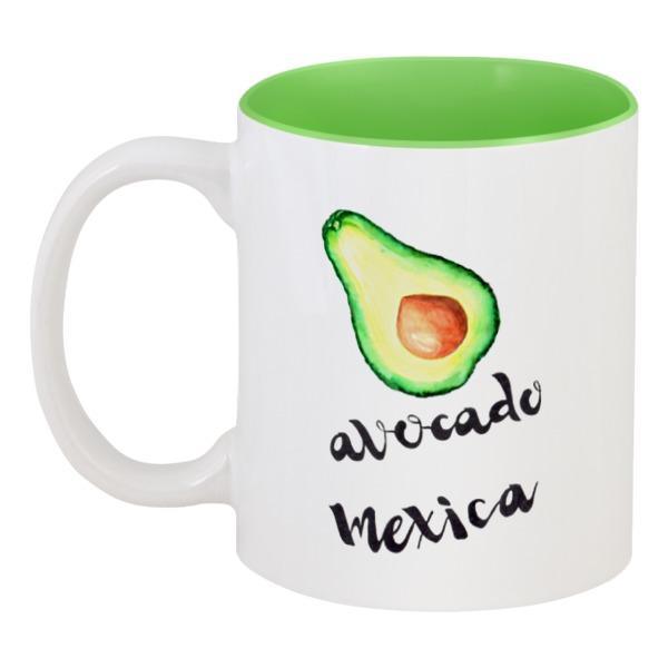 Кружка цветная внутри Printio Avocado mexica
