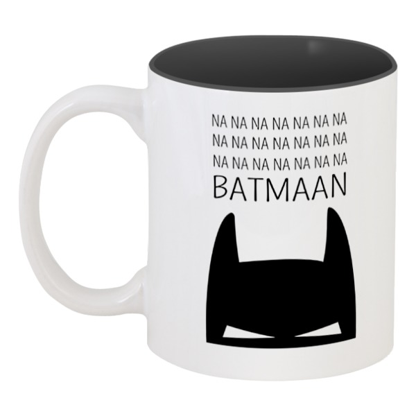 Кружка цветная внутри Printio Бетмэн ( batman )