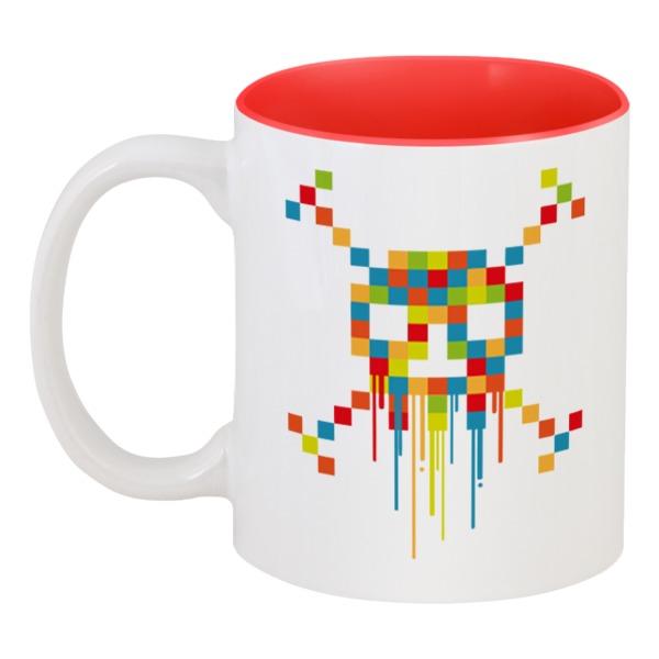 Кружка цветная внутри Printio Пиксельный череп кружка цветная внутри printio череп
