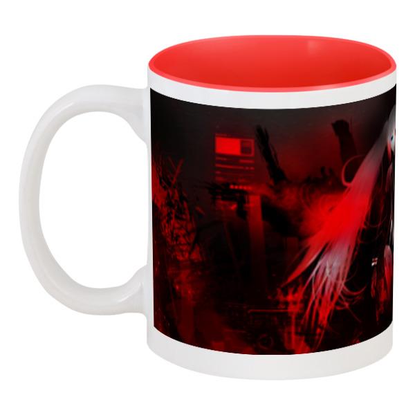 Кружка цветная внутри Printio Red darkness darkness descending