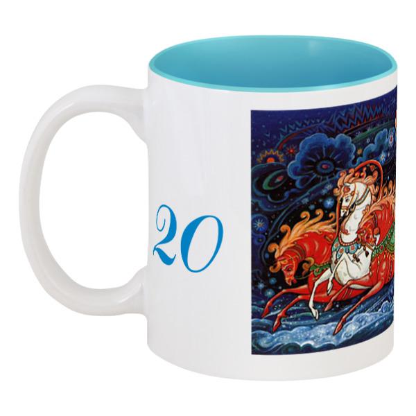 Кружка цветная внутри Printio Дед мороз украшение новогоднее оконное magic time дед мороз с самоваром двустороннее 30 х 32 см