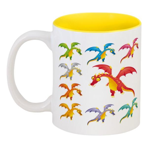 Кружка цветная внутри Printio Динозавры printio кружка цветная внутри