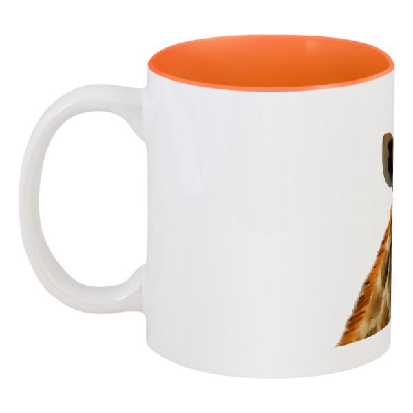 Кружка цветная внутри Printio Жираф кружка пивная printio оранжевый жираф