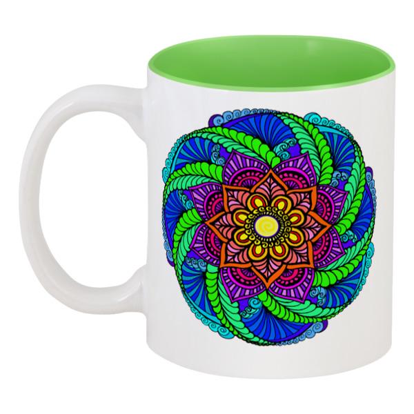 Кружка цветная внутри Printio Неоновые цветы механди кружка цветная внутри printio цветы