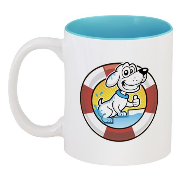 Кружка цветная внутри Printio Пёс-спасатель кружка printio пёс с косточкой