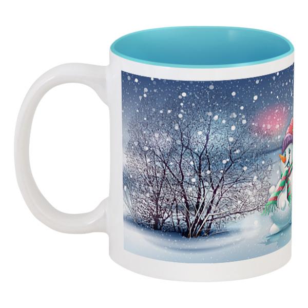 Кружка цветная внутри Printio Снеговик кружка printio снеговик
