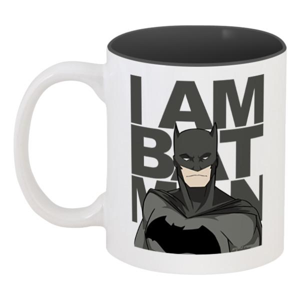 Кружка цветная внутри Printio Бэтмен (batman) кружка цветная внутри printio какаду инка