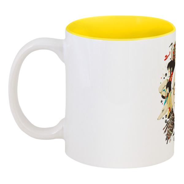 Кружка цветная внутри Printio Хаяо миядзаки кружка цветная внутри printio какаду инка