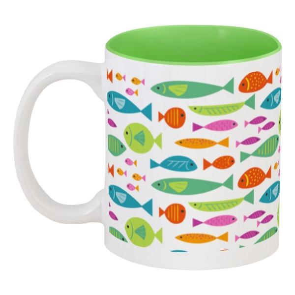 Кружка цветная внутри Printio Морские рыбки printio кружка цветная внутри