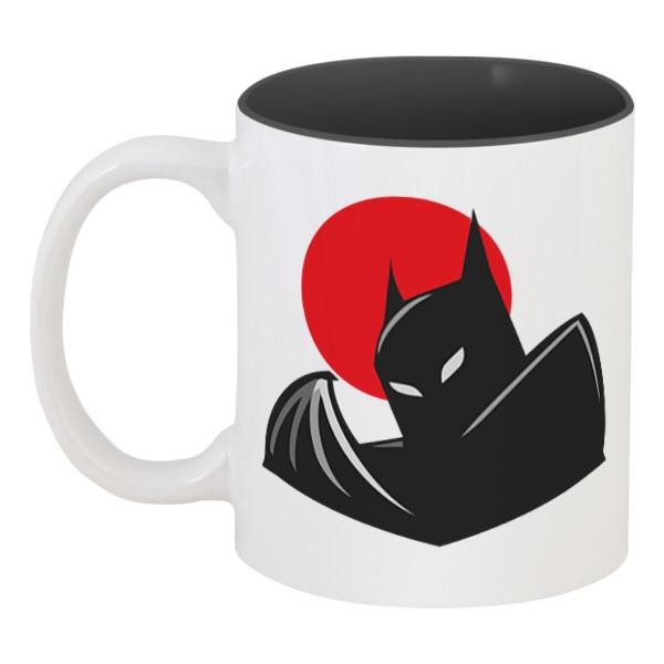 Кружка цветная внутри Printio Бэтмен (batman)